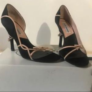 Steve Madden black and blush heels NIB size 7.5